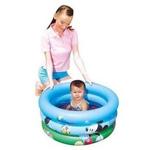 Inflatable swimming pool for children