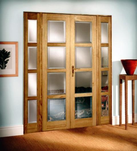 Doors with interior glass will create coziness in your home