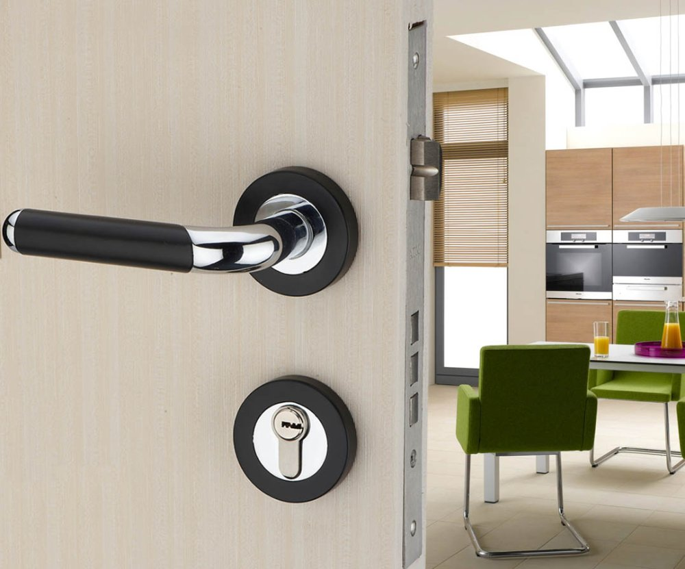 Miter cutters for locks in interior doors