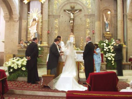 What is the wedding and how much is the wedding in the church?