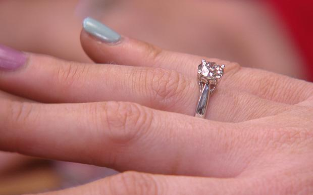 dream wedding ring on a finger