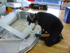 How to repair a rubber boat