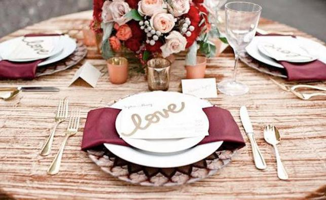 Wedding in color of Marsala: fashionable, stylish and tasteful